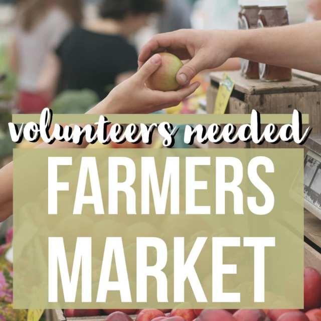 Salem NH Farmers Market Volunteers Nedded